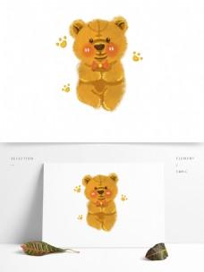 玩具布熊卡通可爱熊爪布绒玩偶