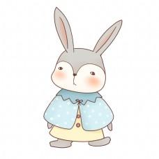 清新甜美可爱拟人化动物小兔子