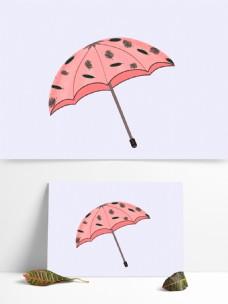 原创素材粉色森系雨伞