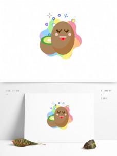 水果蔬菜可爱卡通形象表情矢量ai元素