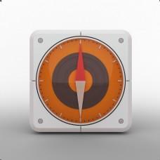 三维立体指南针icon
