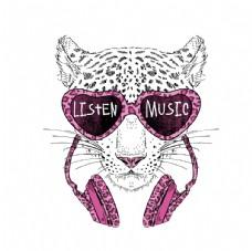 粉红音乐豹