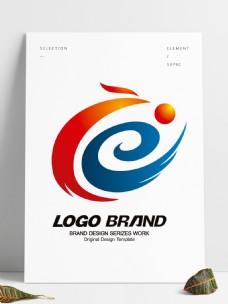 矢量中国风创意红蓝凤凰LOGO公司标志