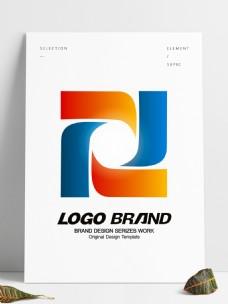 简约创意红蓝窗口公司标志LOGO设计