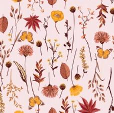 平铺树叶蝴蝶图