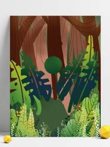 清新春季绿叶树林背景设计