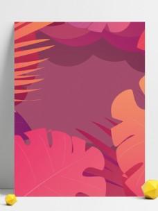 创意粉色花卉背景素材