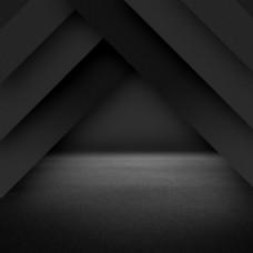 简约几何黑色磁力片PSD分层主图背景素材