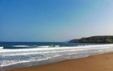 海滩海浪蔚蓝大海