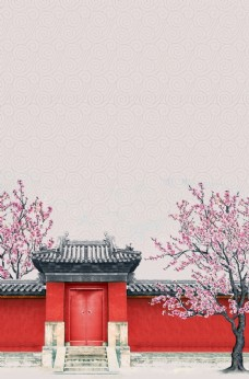 中国风背景 水墨画背景 中国风
