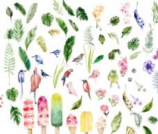 各种彩绘叶子