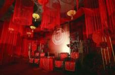 红色主题婚礼现场