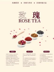 玫瑰花茶海报
