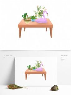 唯美的桌上盆栽透明素材