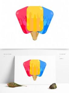 夏季彩色冰棍免抠元素
