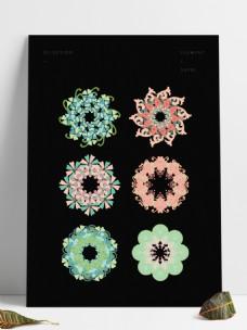 中式花纹装饰图案