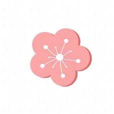 矢量图美丽的粉红色花蕊