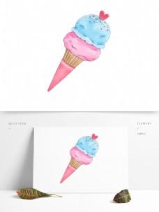 简约卡通夏日冰淇淋PNG素材