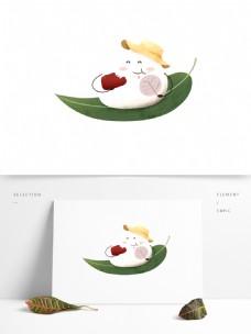 卡通端午节美味粽子元素设计