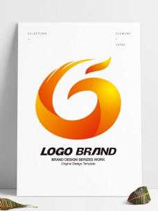 矢量创意红黄凤凰logo公司标志设计