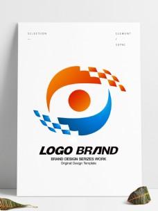 简约大气红蓝科技公司标志设计企业logo