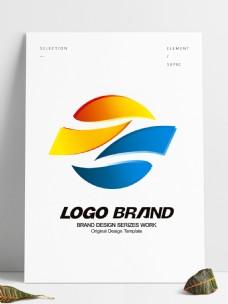 矢量大气红蓝旗帜logo公司标志设计