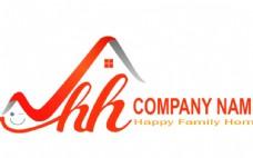 建筑logo 快乐家园图标