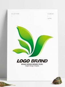 矢量现代绿色飞鸟标志设计公司logo
