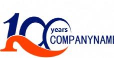 100数字logo设计