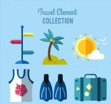 6款扁平化旅行元素
