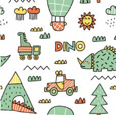 恐龙主题元素