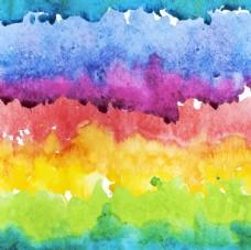水彩彩虹渐变