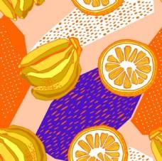 橙子香蕉几何无缝拼接