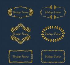 金色复古花纹框架
