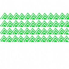 白色背景与绿色波浪线