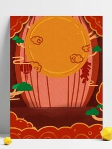 简约手绘2019猪年元旦宣传背景