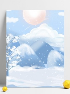 小雪节气郊外风景背景