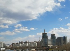 北京的蓝天白云
