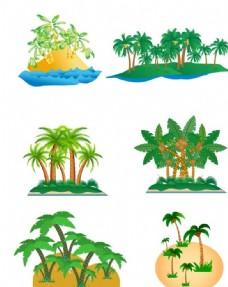 卡通椰子树