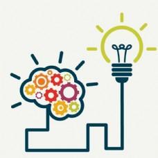 科技大脑灯泡