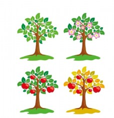 卡通苹果树