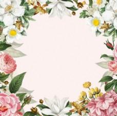 绿色植物花朵花卉树叶鲜花背景