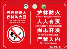 森林防火警示牌