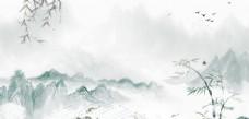 中国风背景 水墨山水
