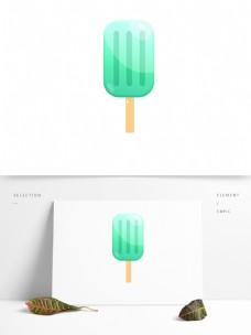 蓝绿色冰爽夏天冰棒