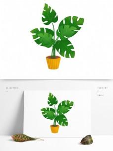 小清新盆栽插画png素材