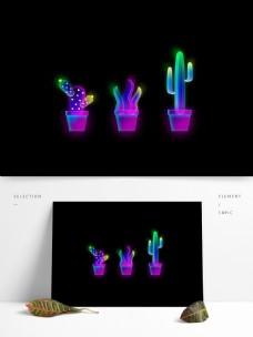 原创荧光植物盆栽合集