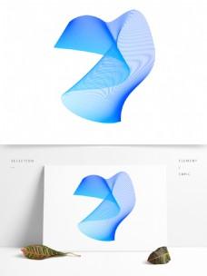 蓝色创意波纹素材