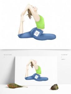 清新手绘做瑜伽的女性