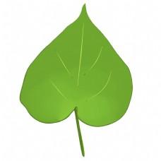 手绘心形仿真立体绿色树叶